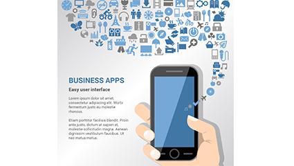 Link toCreative business application illustration vector diagram