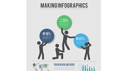 Link toBusiness marketing information map vector material