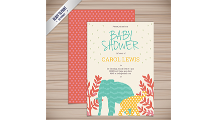 Link toCreative animal welcome baby party invitation card vector map