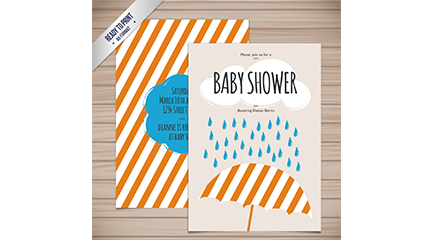 Link toStriped welcome baby party invitation card vector map