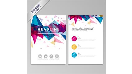 Link toFashion business brochure vector geometry