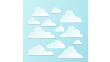 Link toWhite clouds design vectors