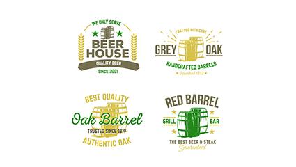 Link to4 retro beer labels vector