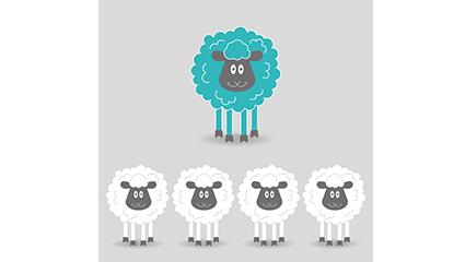 Link toCute black-sheep vector material