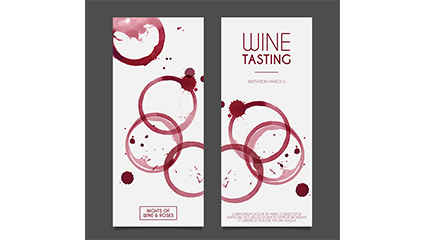 Link toStained water tasting invitation cards vector material