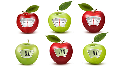 Link to8 creative apple electronic scales vector material