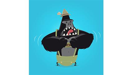 Link toCartoon crying gorilla vector material