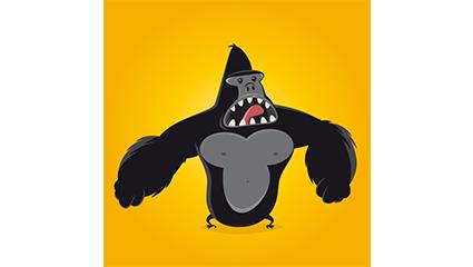 Link toKing kong gorilla vector material cartoon howling
