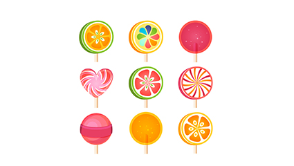 Link to9 delicious lollipop vector