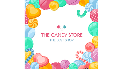 Link toCreative candy store posters vector material