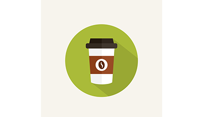 Exquisite takeaway coffee icon vector
