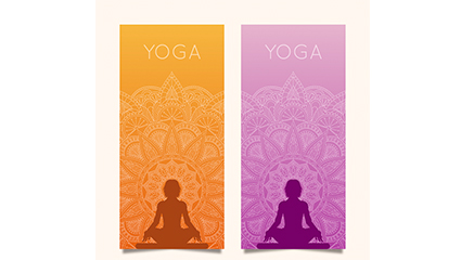 2 color banner vector material yoga