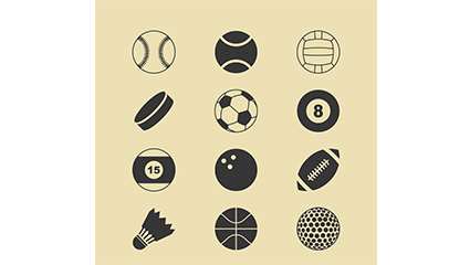 Link to12 sports icon vector material