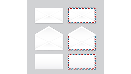 6 envelope design vector material