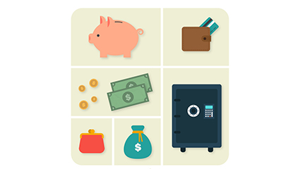 6 financial icon vector material elements