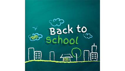 Creative chalk back to school vector material