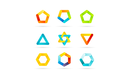 9 color pattern icon vector