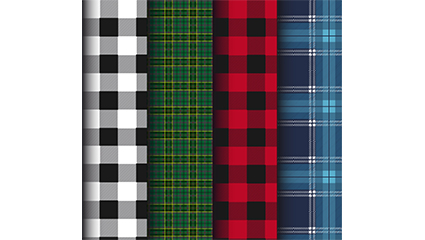 4 Creative Plaid seamless background vector