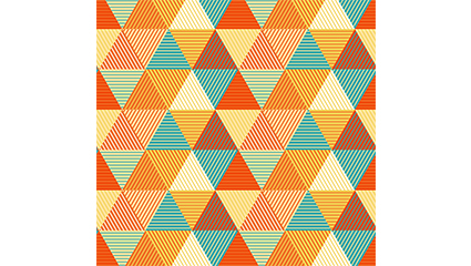Color triangle seamless background vector material