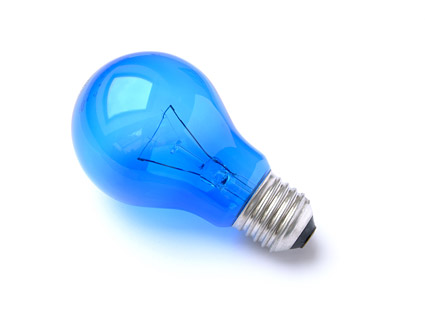 Blue Light Bulb Picture Quality Material Over Millions