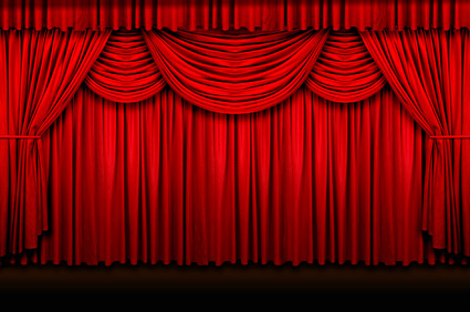 Red curtain picture quality material download free vector for Theatre curtains psd