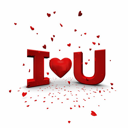 3D I Love YOU Download...U Letter Love