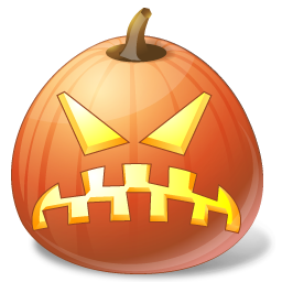 Vista style halloween pumpkin face computer icon png ...
