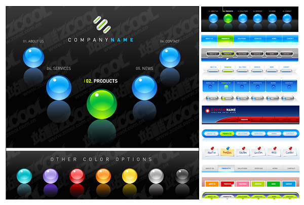 Web Design Navigation Button Download Free Vector Psd
