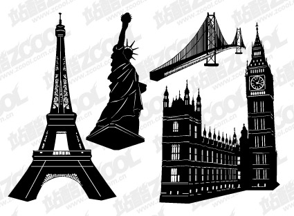 Eiffel Tower Cartoon. Vector Eiffel Tower,