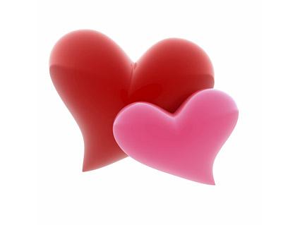 לב 3d