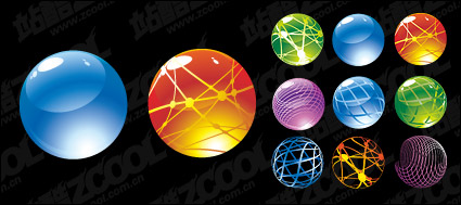 Link toRound crystal ball icon vector material