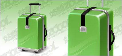 Link toGreen suitcase vector