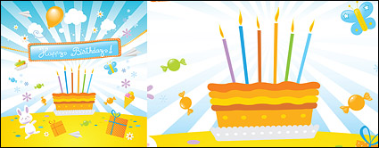 Link toLovely birthday theme vector illustration material
