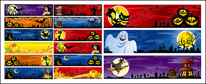 Link toHalloween decoration material banner banner vector