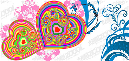 Link toThe colors and style heart-shaped pattern