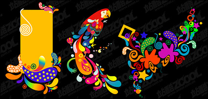 Link toThe trend of color vector graphics material