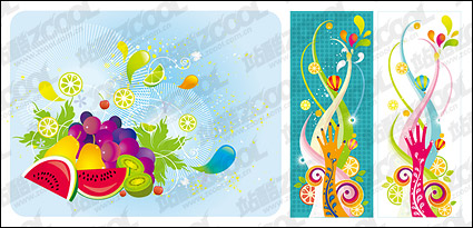 Link toThe trend of colorful fruit theme vector material