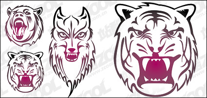 Link toHead of animal totem vector material