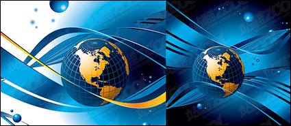 Link toBlue earth city line vector material