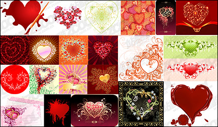 Link toThe heart-shaped theme vector