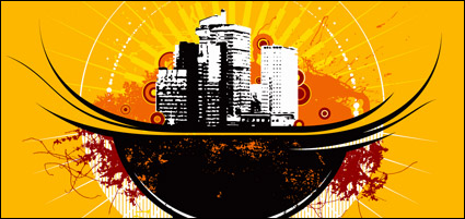 Link toThe trend of urban theme vector