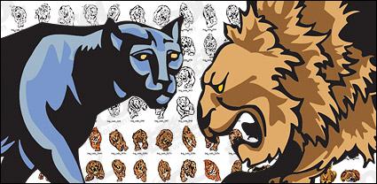Link toFeline beast animal vector material