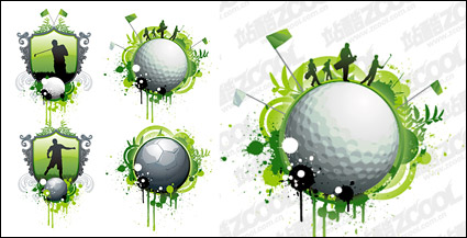 Link toGolf and football theme vector material