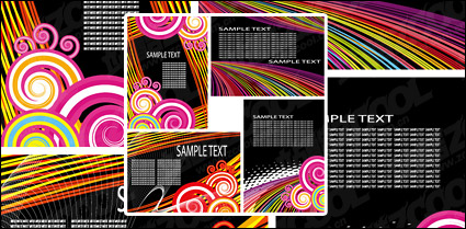 Link toLine card template vector