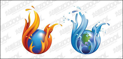Link toCity water and the earth vector material