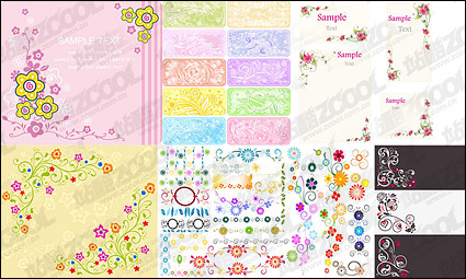 Link toLovely lace pattern style vector material