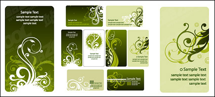 Link toFashion card template pattern vector