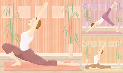Link toYoga movement of female vector material