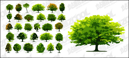 Link toA number of trees vector material