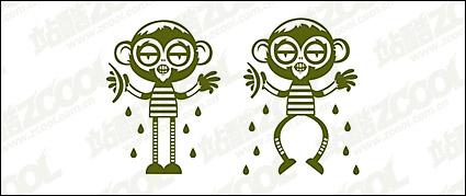 Link toCute cartoon monkey vector